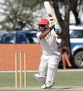 Zeeshan Siddiqi drives during his unbeaten 73, Namibia v Canada, ICC Intercontinental Cup, Windhoek, 4th day, April 8, 2012