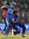 Richard Levi collides with Amit Singh, Mumbai Indians v Rajasthan Royals, IPL, Mumbai, April 11, 2012