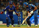 Rohit Sharma is bowled by Brad Hogg, Mumbai Indians v Rajasthan Royals, IPL, Mumbai, April 11, 2012