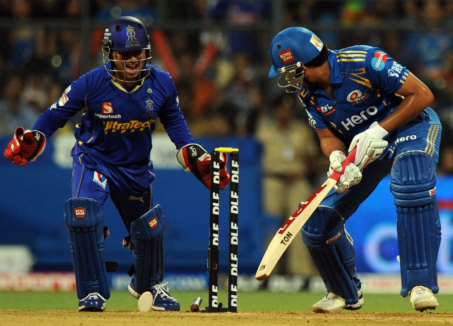 ... vs Mumbai Indians Cricket Scores 2012, RR vs MI Live Cricket Scores
