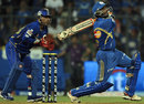Ambati Rayudu goes over midwicket, Mumbai Indians v Rajasthan Royals, IPL, Mumbai, April 11, 2012