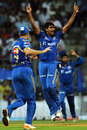 Munaf Patel took 4 for 28, Mumbai Indians v Rajasthan Royals, IPL, Mumbai, April 11, 2012