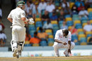 Kemar Roach rued his lack of luck as Australia's chase began