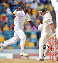 Darren Sammy picked up the first wicket, having David Warner caught behind