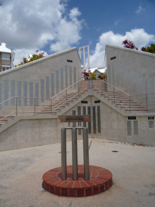The West Indies Walk of Fame memorial at the Three Ws Oval, Cave Hill, Barbados