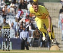 Doug Bollinger took three wickets in his final over, Chennai Super Kings v Royal Challengers Bangalore, IPL, Chennai, April 12, 2012