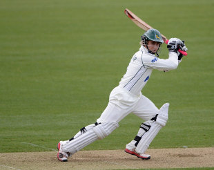 James Taylor drives through the off side, Durham v Nottinghamshire, County Championship, Division One, Chester-le-Street, April, 12, 2012