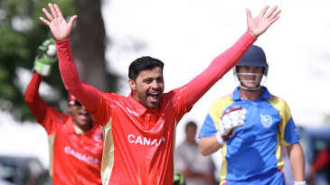 Canada's Rizwan Cheema took 6 for 34