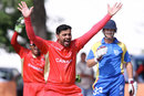 Canada's Rizwan Cheema took 6 for 34, Namibia v Canada, ICC World Cricket League Championship, 24th match, Windhoek, April 12, 2012