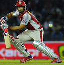 Adam Gilchrist guides the ball, Kings XI Punjab v Pune Warriors India, IPL, Mohali, April 12, 2012