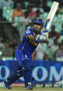 Shreevats Goswami chips over midwicket, Kolkata Knight Riders v Rajasthan Royals, IPL 2012, Kolkata, April 13, 2012