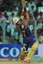Manoj Tiwary lofts down the ground, Kolkata Knight Riders v Rajasthan Royals, IPL 2012, Kolkata, April 13, 2012