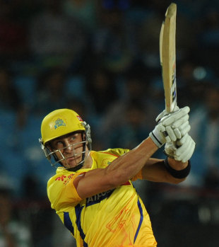 Faf du Plessis earned the orange cap during his 43, Pune Warriors v Chennai Super Kings, IPL 2012, Pune, April 14, 2012