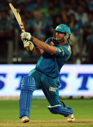 Jesse Ryder on his way to an unbeaten 73, Pune Warriors v Chennai Super Kings, IPL 2012, Pune, April 14, 2012