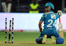 Sourav Ganguly was run out for 16, Pune Warriors v Chennai Super Kings, IPL 2012, Pune, April 14, 2012