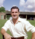 Neil Harvey poses for a photo during Australia's nets session