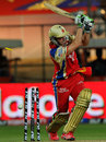 AB de Viliers is bowled by Siddharth Trivedi, Royal Challengers Bangalore v Rajasthan Royals, IPL 2012, Bangalore, April 15, 2012