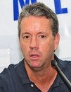 Stuart Law at a press conference after his resignation as Bangladesh coach, Dhaka, April 16, 2012