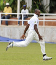 David Bernard celebrates one of his four wickets
