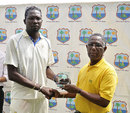 Sulieman Benn receives the Man of the Match award