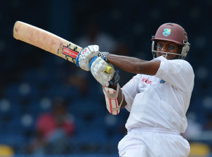 Shivnarine Chanderpaul played another important hand, West Indies v Australia, 2nd Test, Port-of-Spain, April 17, 2012