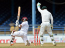Carlton Baugh fell in the first over of the fourth day, West Indies v Australia, 2nd Test, Port-of-Spain, April 18, 2012