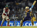Manvinder Bisla drags the ball onto his stumps, Kings XI Punjab v Kolkata Knight Riders, IPL, Mohali, April 18, 2012