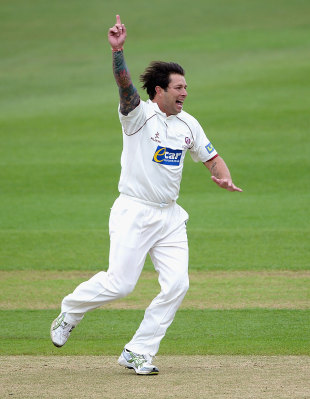 Peter Trego made early inroads for Somerset, Nottinghamshire v Somerset, County Championship, Division One, Trent Bridge, April 19, 2012