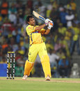 MS Dhoni bludgeons one of the biggest sixes of the tournament, Chennai Super Kings v Pune Warriors, IPL, Chennai, April 19, 2012