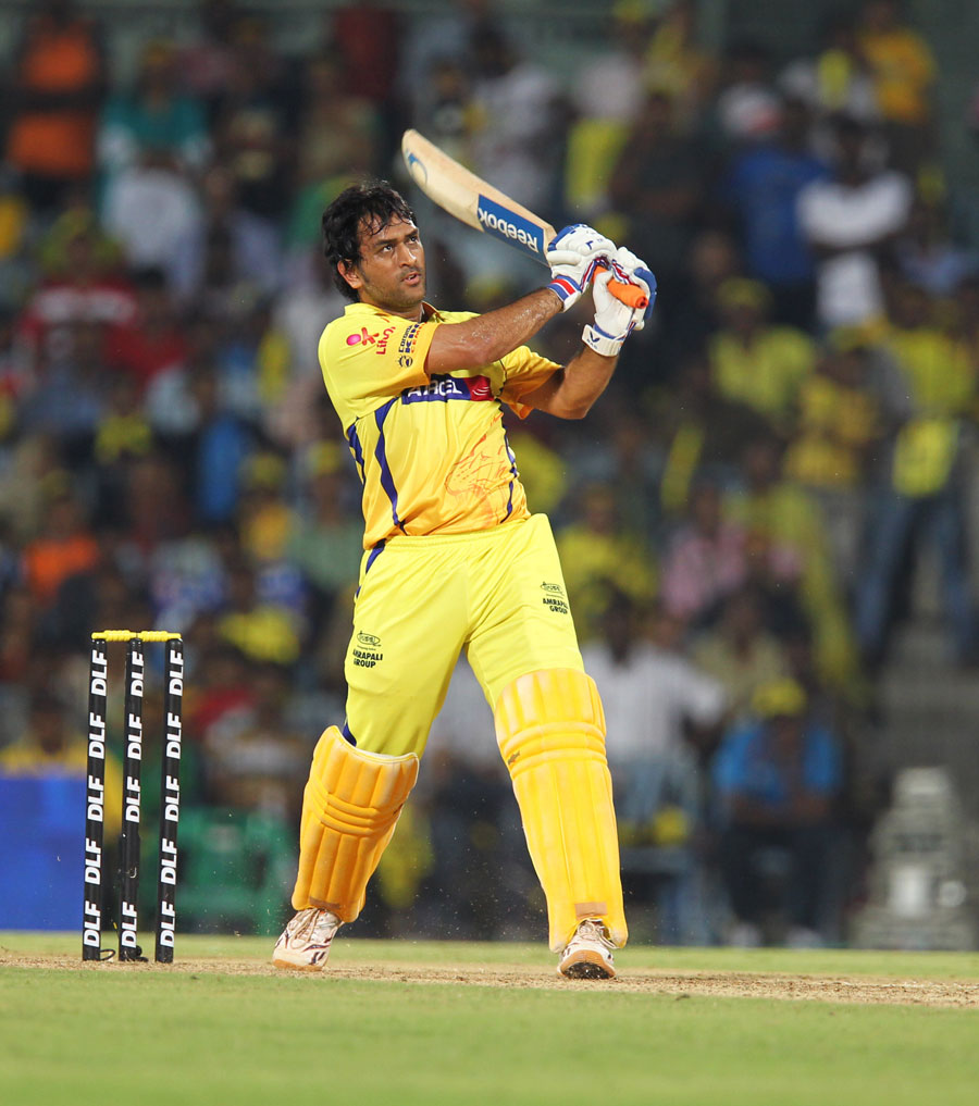 MS Dhoni bludgeons one of the biggest sixes of the tournament