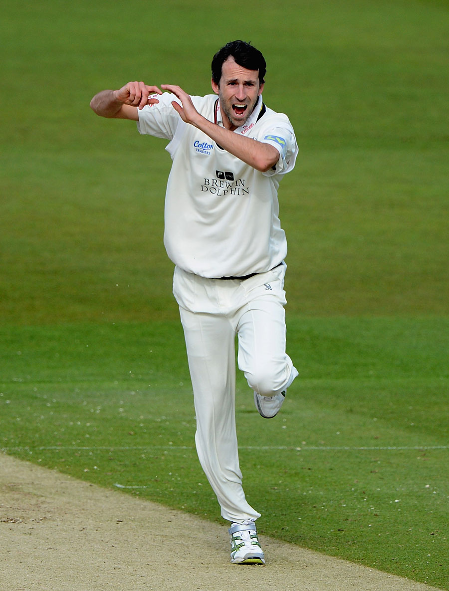 Graham Onions took three wickets including Andrew Strauss for a duck