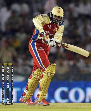 Chris Gayle led Royal Challengers Bangalore's chase, Kings XI Punjab v Royal Challengers Bangalore, IPL 2012, Mohali, April 20, 2012