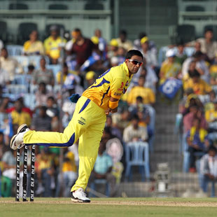 R Ashwin in his delivery stride, Chennai Super Kings v Rajasthan Royals, IPL 2012, Chennai, April 21, 2012
