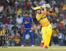 Faf du Plessis lofts one on his way to a half-century, Chennai Super Kings v Rajasthan Royals, IPL 2012, Chennai, April 21, 2012
