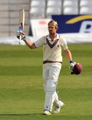 Nick Compton scored a double-century, Nottinghamshire v Somerset, Trent Bridge, 3rd day, April, 21, 2012