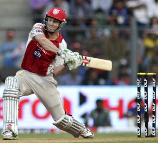 Shaun Marsh plays a shot, Mumbai Indians v Kings XI Punjab, IPL, Mumbai, April 22, 2012