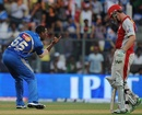 Kieron Pollard celebrates a wicket, Mumbai Indians v Kings XI Punjab, IPL, Mumbai, April 22, 2012
