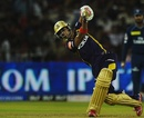Manoj Tiwary scored an unbeaten 30, Deccan Chargers v Kolkata Knight Riders, IPL, Cuttack, April 22, 2012