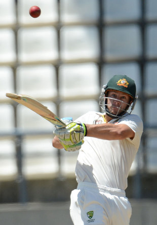 Matthew Wade pulls on his way to his maiden Test century, West Indies v Australia, 3rd Test, Roseau, 2nd day, April 24, 2012