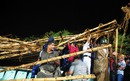 The collapsed structure in the stands at Eden Gardens, Kolkata Knight Riders v Deccan Chargers, IPL, Eden Gardens, April 24, 2012