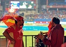 Fans wait for the rain to stop. It did not, Royal Challengers Bangalore v Chennai Super Kings, IPL, Bangalore, April 25, 2012
