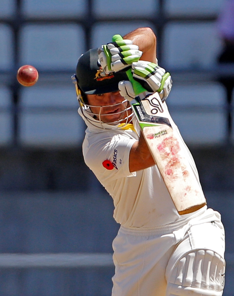 Ricky Ponting watches the ball off the bat | Cricket Photo | ESPN ...