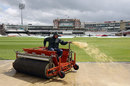 Hard work for The Oval groundstaff, Surrey v Durham, The Oval, 1st day, April, 26, 2012