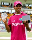 Shivnarine Chanderpaul was named Player of the Series, West Indies v Australia, 3rd Test, Roseau, 5th day, April 27, 2012