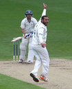 Andre Adams successfully appeals for the wicket of Daryl Mitchell, Worcestershire v Nottinghamshire, County Championship, Division One, New Road, 2nd day, April 27, 2012