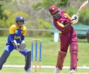 Shemaine Campbelle plays a shot, 2nd ODI, Sri Lanka Women's tour of West Indies, 2012, Barbados, April 27, 2012