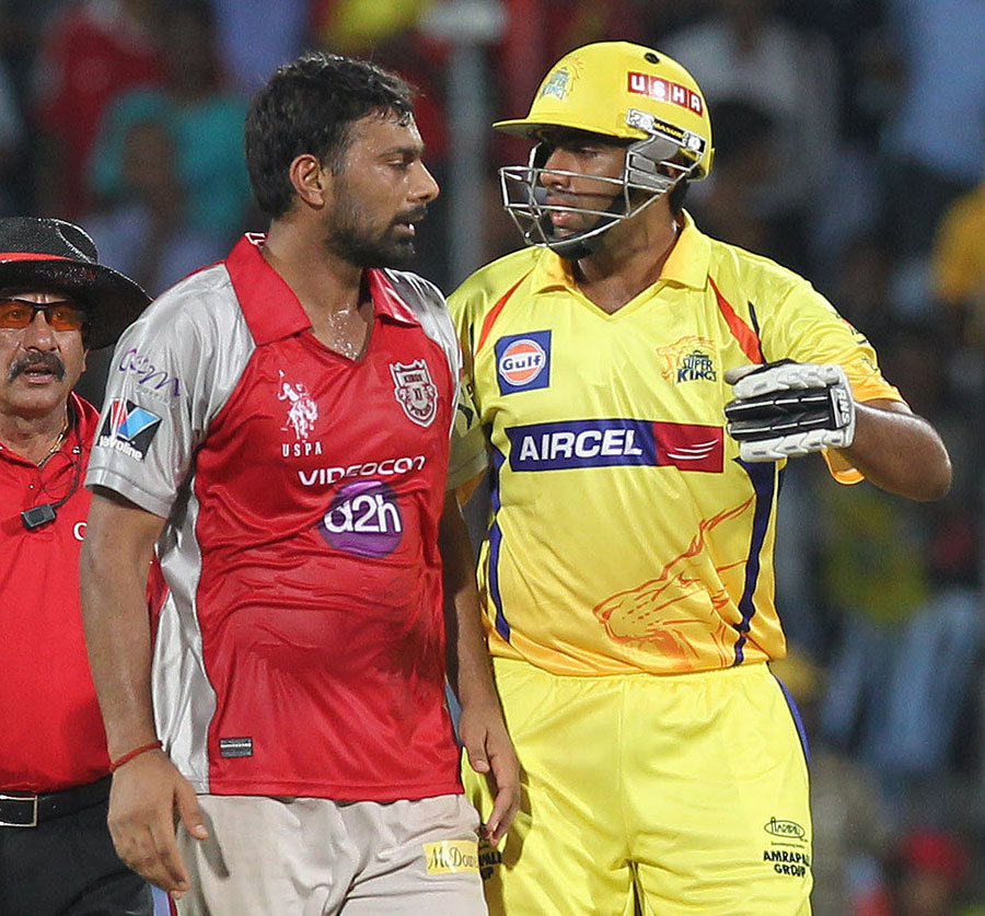 Praveen Kumar and R Ashwin exchange words