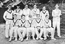 The Gentlemen XI: (back row, left to right) Hopper Levett, Errol Holmes, Alan Melville, Freddie Brown, John Human, AD Baxter; (front row) Bryan Valentine, Cyril Walters, Bob Wyatt, Gubby Allen, Maurice Turnbull, Gentlemen v Players, Lord's, 1st day, July 25, 1934