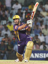Debabrata Das lofts over the off side, Chennai Super Kings v Kolkata Knight Riders, IPL 2012, Chennai, April 30, 2012