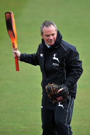 Notts coach Mick Newell before play, Nottinghamshire v Somerset, County Championship, Division One, Trent Bridge, April 19, 2012